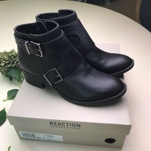 Kenneth Cole Reaction Shoes - Kenneth Cole New in Box Black Booties zippered